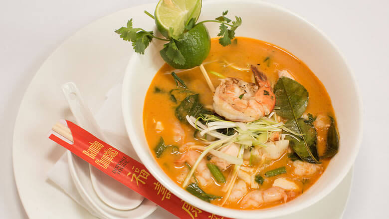 Spicy Thai Coconut Seafood Noodle Soup